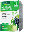 Minceur drainage Bio (Th� vert, Marc de raisin, Bouleau, Queue de cerise) - 90 comprim�s
